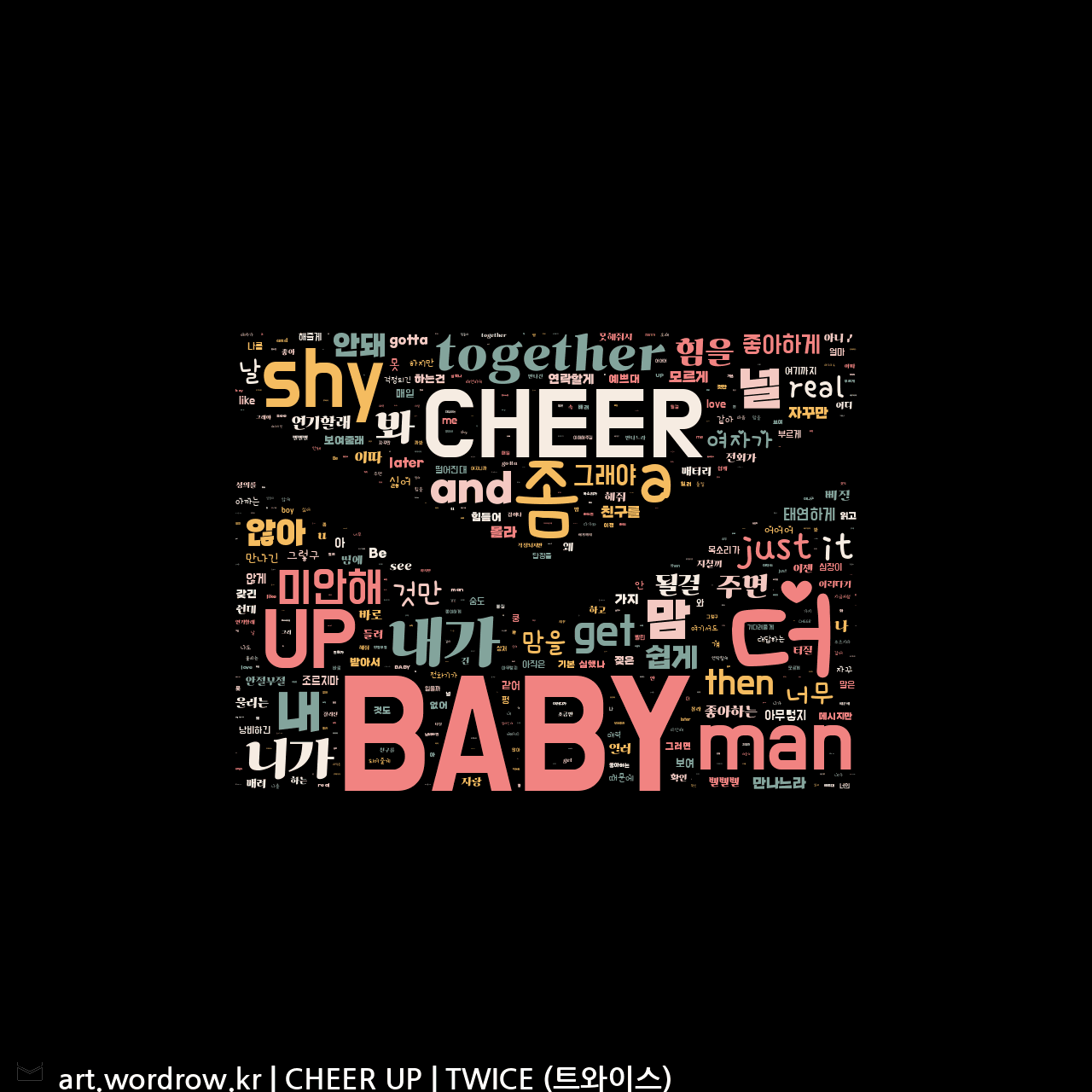 워드 아트: CHEER UP [TWICE (트와이스)]-6